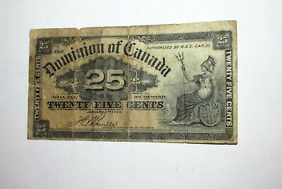 25 Cents Note Dominion of Canada  1900 Old Note......4628