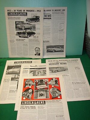 6 - Vintage Mercury News (Ford Motor Co.) Employee Newsletters - 1950's.