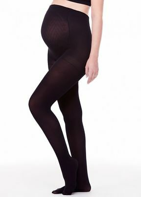 NEW Ingrid and Isabel Opaque Maternity Tights Black Size 1/2