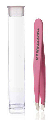Tweezerman Pink MINI SLANT TWEEZER Slanted Tip Travel/Pocket Tweezers