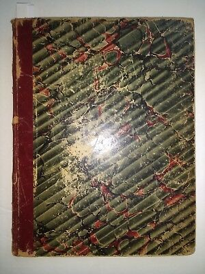 HOLYOKE MA CITY HISTORY & GENEALOGY Handwritten Journal/Ledger/Diary 1881 RARE