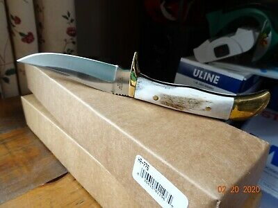 """Hen & Rooster Stag Handle Fixed Blade Knife Model Hr-776  9"""" Overall 440C German"""