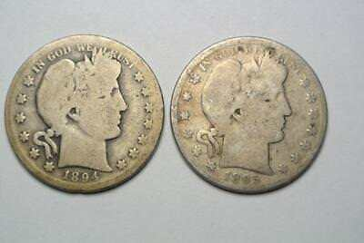1894-S & 1895 Barber Half Dollars, A. Good Condition - C5448