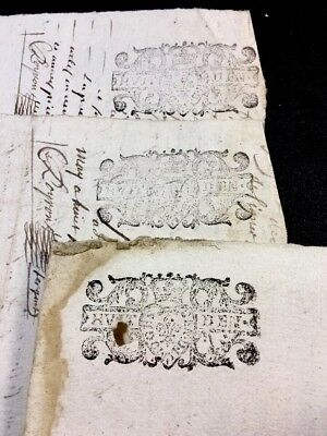 Lot Of Three Manuscripts 1698