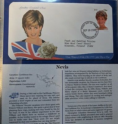 Princess Diana Collection 107 Illustrated First Day Covers Cachets+ Text Pages