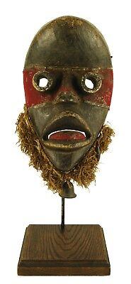 Dan Zakpai 'Fire Runner' Mask with Stand - Ivory Coast African Tribal Art