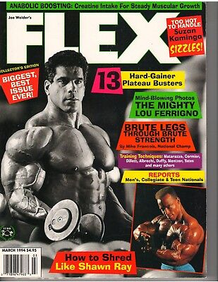 FLEX Bodybuilding Muscle Magazine Lou Ferrigno The Hulk/SHAWN RAY poster 3-94