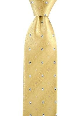 """Mens BRIONI Italy Striped Gold Woven Hand Made 3.25"""" 100% Silk Neck Tie NWT"""