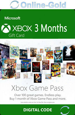 Xbox Game Pass 3 Mesi Abbonamento - Codice Microsoft Xbox One Xbox 360 - IT