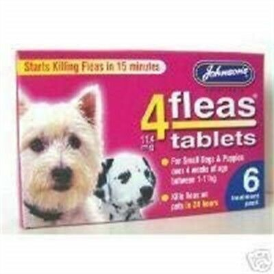 Johnsons Veterinary Products 4fleas Tablets For Puppies And Small Dogs - 6