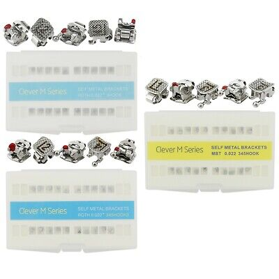 Dental Orthodontic Metal Brackets Interactive Self-Ligating Roth MBT Slot 022