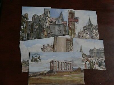 ORIGINAL SET OF SIX FULLEYLOVE SIGNED - EDINBURGH - SERIES II - No.7322.