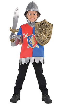 Boys Girls 5 Piece Knight Historical Book Day Fancy Dress Costume Outfit 4-6 Yrs