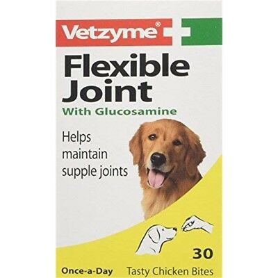 Vetzyme Flexible Joint Tablets With Glucosamine, 30 Tablets - Glucosamine Dog