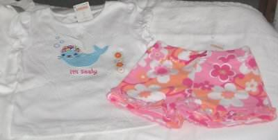NWT Girls 2T GYMBOREE 2 Pc Outfit Shorts and Short Sleeve Top NEW