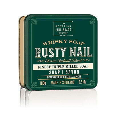 The Scottish Fine Soaps Company Rusty Nail Soap In A Tin 100g