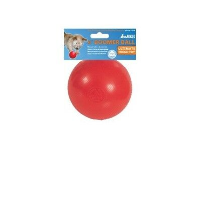 "Boomer Ball x 11cm (4"") Colour May Vary - Dog Toy Indestructible Solid 4 Red"
