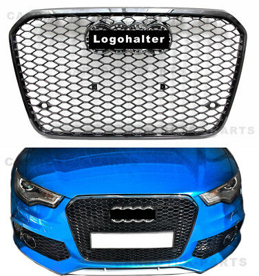 Für Audi A6 4G C7 RS6 Look Wabengrill Kühlergrill grill Stoßstange 11-14 CP10058
