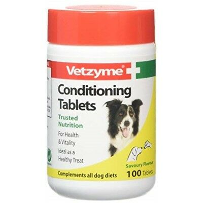 Vetzyme Conditioning Tablets For Dogs Pot Size: 100 Tablets - Vitamins