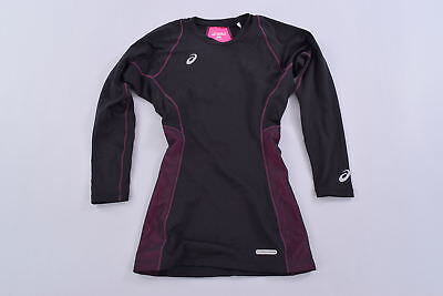 Asics Motion Muscle Support Compression Long Sleeve Top Women's Medium Black