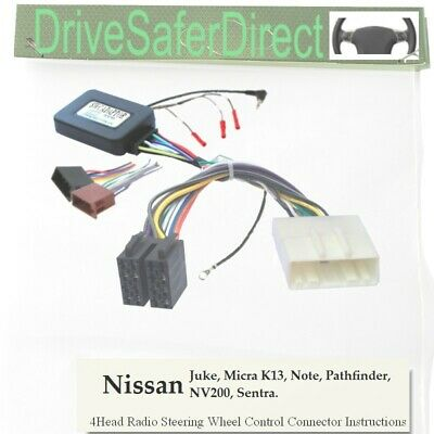 SWC-5234-02J Stalk Adaptor, ISO-JOIN for Android Radio/Nissan Micra K13 10-