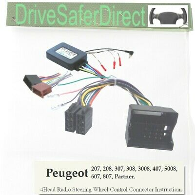 SWC-6010-03J CAN-BUS Stalk Adaptor, ISO-JOIN for Android Radio/Peugeot 307 05-07