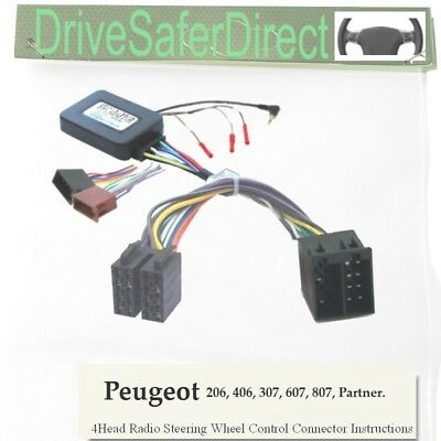 SWC-6011-01J Steering Control, ISO-JOIN for Chinese Radio/Peugeot 206 02-09