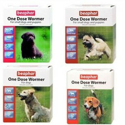 Beaphar One Dose Wormer For Large Dogs 4 Tablets (pack Of 2, Total 8 Tablets) -