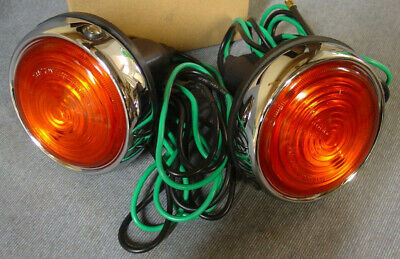Jaguar Mk2 Daimler V8 Xk150 Indicator Flasher Lamps Pair