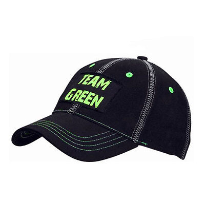 New Genuine Kawasaki Motorcycle Team Green Casual Baseball Cap Hat Black / Green