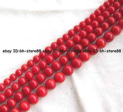 AA Red Ocean Coral Round Beads 15'' 2mm 3mm 4mm 6mm 8mm 10mm 12mm 14mm