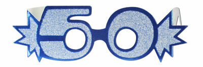 GREEN 80TH BIRTHDAY AGE GLITTERED FOIL SPECTACLES PARTY GLASSES
