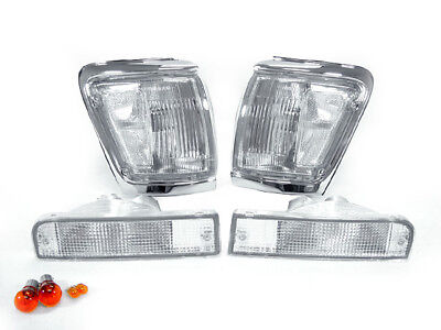 COMBO DEPO Clear Front Corner + Bumper Signal Light For 1992-1995 Toyota 4Runner