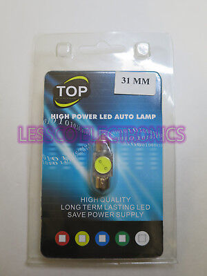 TOP High Power White LED Light Interior for T10 & 31mm License Plate Map Dome
