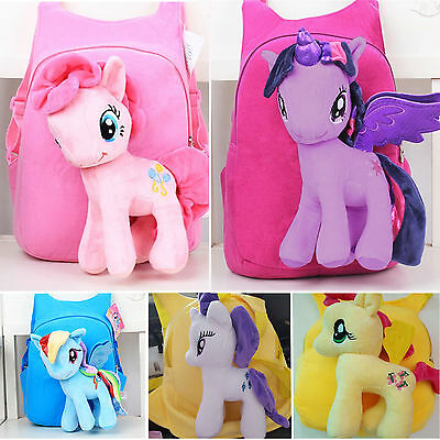 My Little Pony 3D Bag Plush Toy Soft Backpack Schoolbag Cartoon Kids Shoulder