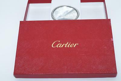 Authentic Cartier Travel Make Up Compact Mirror In Box Ref Pg