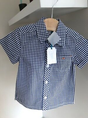 BARGAIN REDUCED ABSORBA Checked Short Sleeved Shirt Age 4 Rrp £29.99