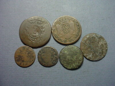 Malta Set of 6 Coppers 1 to 10 Grani 1700s #60654