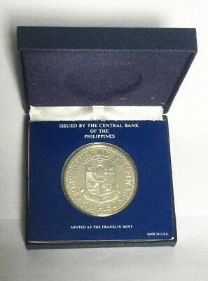 1975 Republic Of The Philippines Solid Sterling Silver Proof 50 Piso Coin
