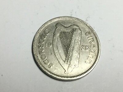 IRELAND 1928 Six pence coin nice condition