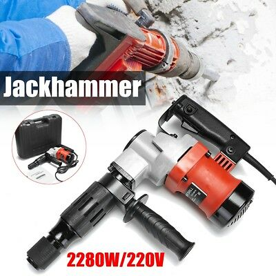 2000 RPM Electric Demolition Jack Hammer Concrete Breaker Punch Chisel Bit 2280W