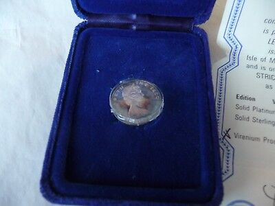 Isle of Man Virenium PROOF 1978 £1 One Pound coin boxed with COA