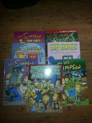 Lot de 7 BD Les SIMPSON