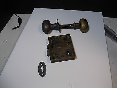 Antique Brass Russwin Mortise Lock And Door Knobs