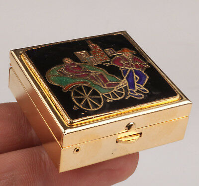 Cloisonne Box Ashtray Old Handmade Crafts Gift Collection