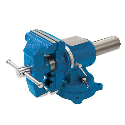 Silverline 979965 Multipurpose Vice 125mm with Pipe and V Jaws 360° x 360°