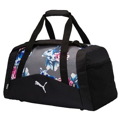 PUMA Fundamentals Sports Bag Graphic M Sporttasche Steel Gray-Floral AOP Grau