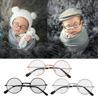 Baby Boy Girl Flat Glasses Newborn Photography Props Gentleman Studio Shoot