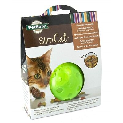 Petsafe Slimcat Green Meal Dispensing Cat Toy - Ball Food Treat Digestion Feed