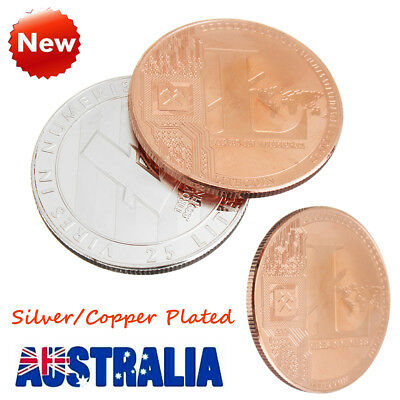 Silver/Copper Plated Litecoin Commemorative Collectible Golden Iron Miner Coin
